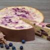 Joghurt-Karamel-Heidelbeer Torte